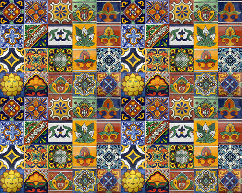 100 Mexican 2x2 Mosaic Tile mix
