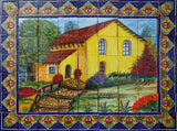 traditional ceramic tile mural