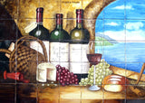 traditional handmade kitchen backsplash mural