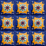 country yellow cobalt talavera tile