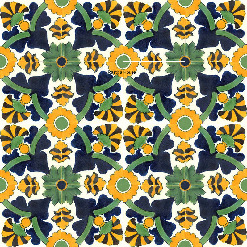 colonial green talavera tile