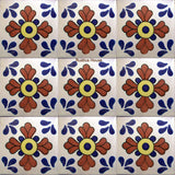 mexican terracotta blue talavera tile