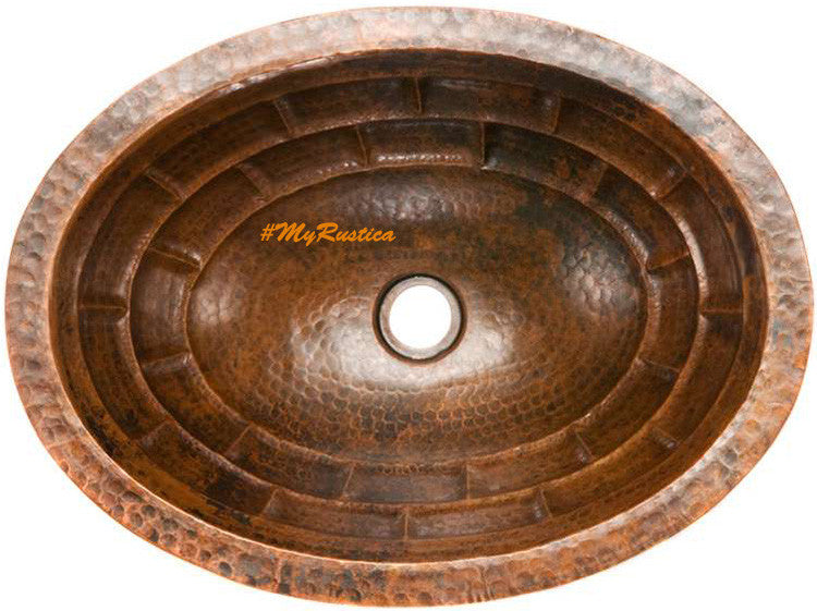 colonial oval copper bathroom sink