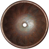 cobre viejo round copper bathroom sink