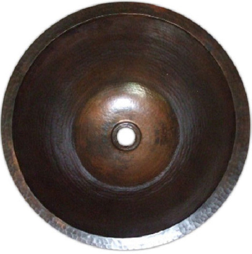 colonial round copper bathroom sink