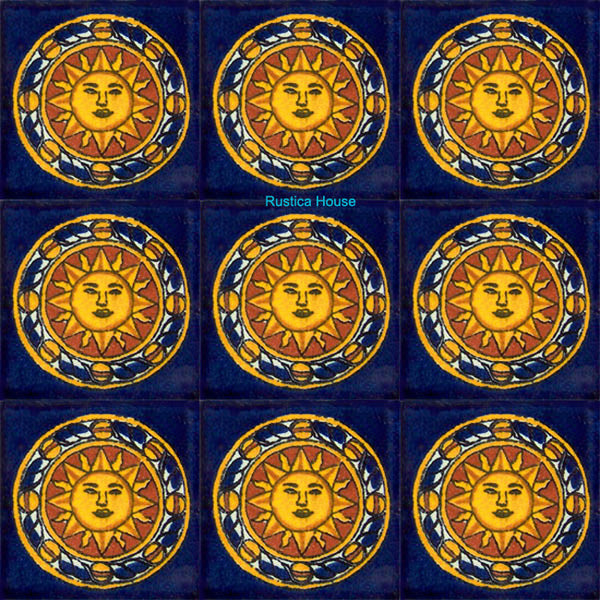 old world yellow talavera tile