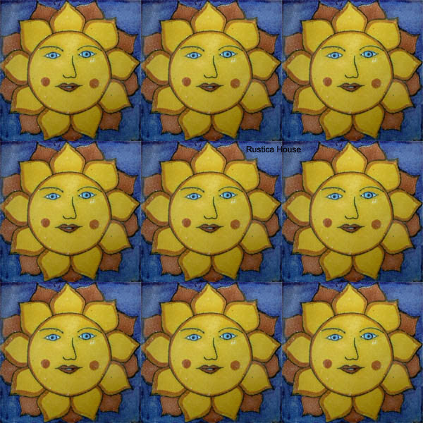 contemporary yellow talavera tile