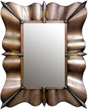antique traditional tin mirror