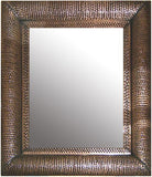 antique rustic tin mirror