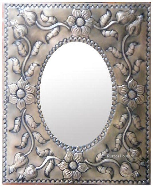 beautiful tin mirror