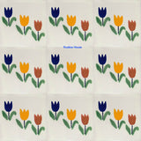 old world yellow white talavera tile