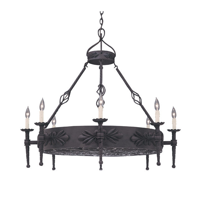 artisan iron chandelier