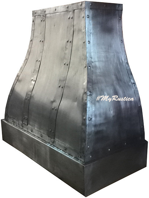 metal range hood handcrafted in zinc