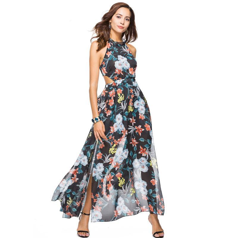 9966c9577c Women s Apparel - Summer Sizzle Awesome Chiffon Halter Maxi Dress - 3 STYLES