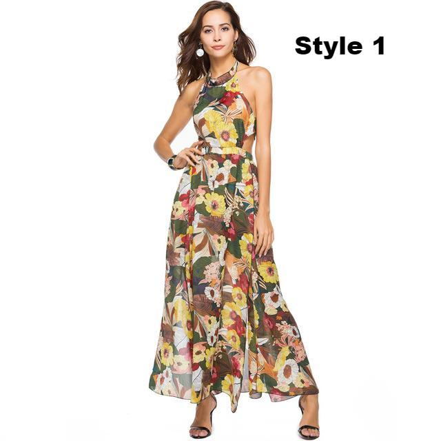 ae87619533 Women s Apparel - Summer Sizzle Awesome Chiffon Halter Maxi Dress - 3 -  84degrees