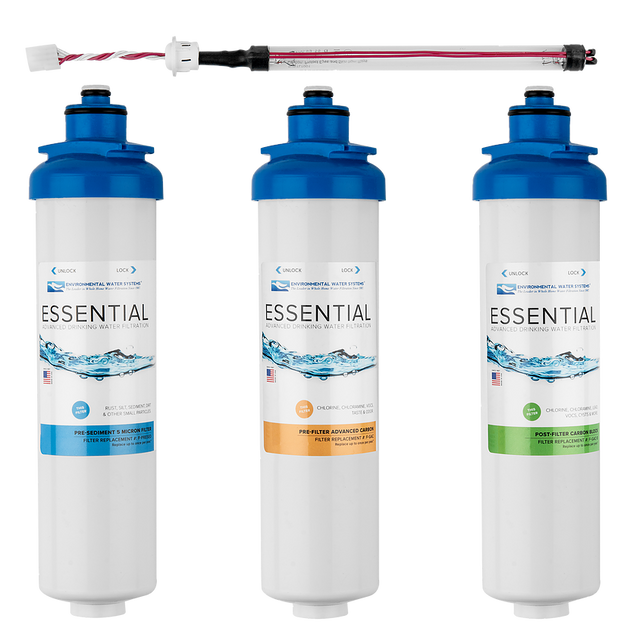 Environmental Water Systems F.SET.RO3-UV Replacement Filter for 3-Stage Reverse Osmosis System with Ultraviolet (UV) Disinfection - Drinking Well Co.