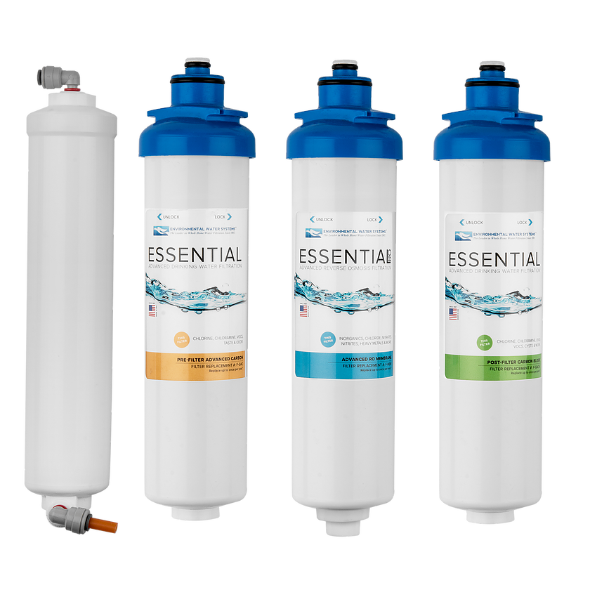 Environmental Water Systems F SET RO4 Replacement Filter Set for RO4  4-Stage Reverse Osmosis System