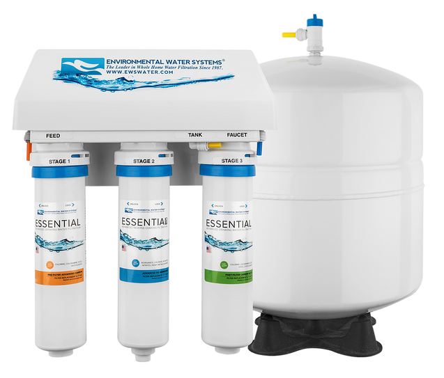 Environmental Water Systems Essential RO3 Advanced 3-Stage Reverse Osmosis Filter System - Drinking Well Co.