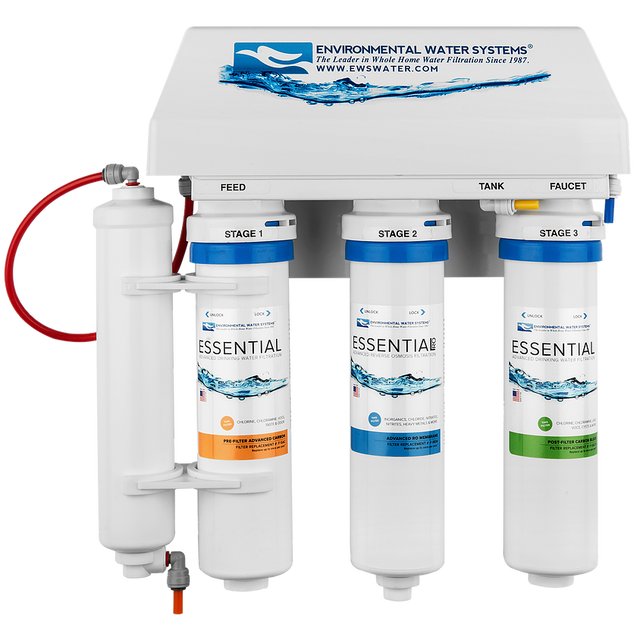 Environmental Water Systems Essential RO4 Advanced 4-Stage Reverse Osmosis Filter System - Drinking Well Co.