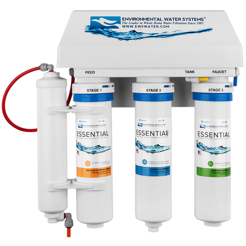 Environmental Water Systems Essential RO4 Advanced 4-Stage Reverse Osmosis Filter System