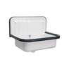 Alape Wall Mounted Small Service Sink Glazed Steel Utility Sink, with Overflow