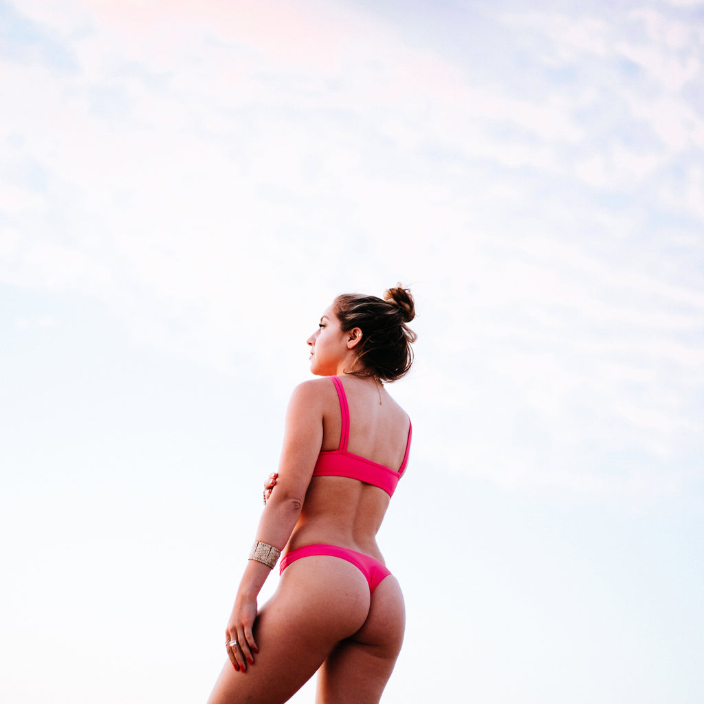 Lookbook KE'ALA BIKINIS Bobby Bikini Bottom High Maintenance Pink