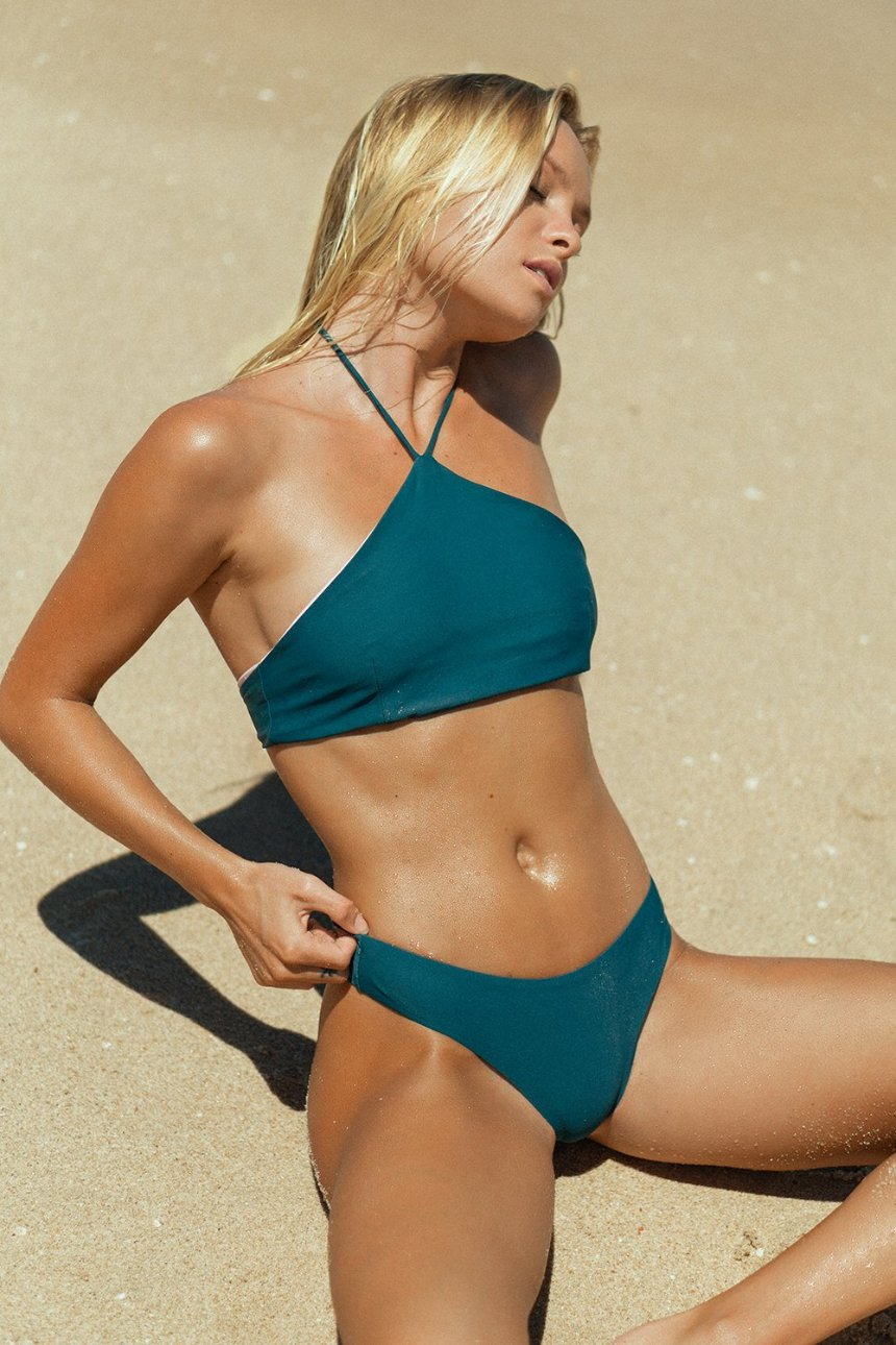 The Bobby – Cheeky Bikini Bottom in Beyond the Reef Teal