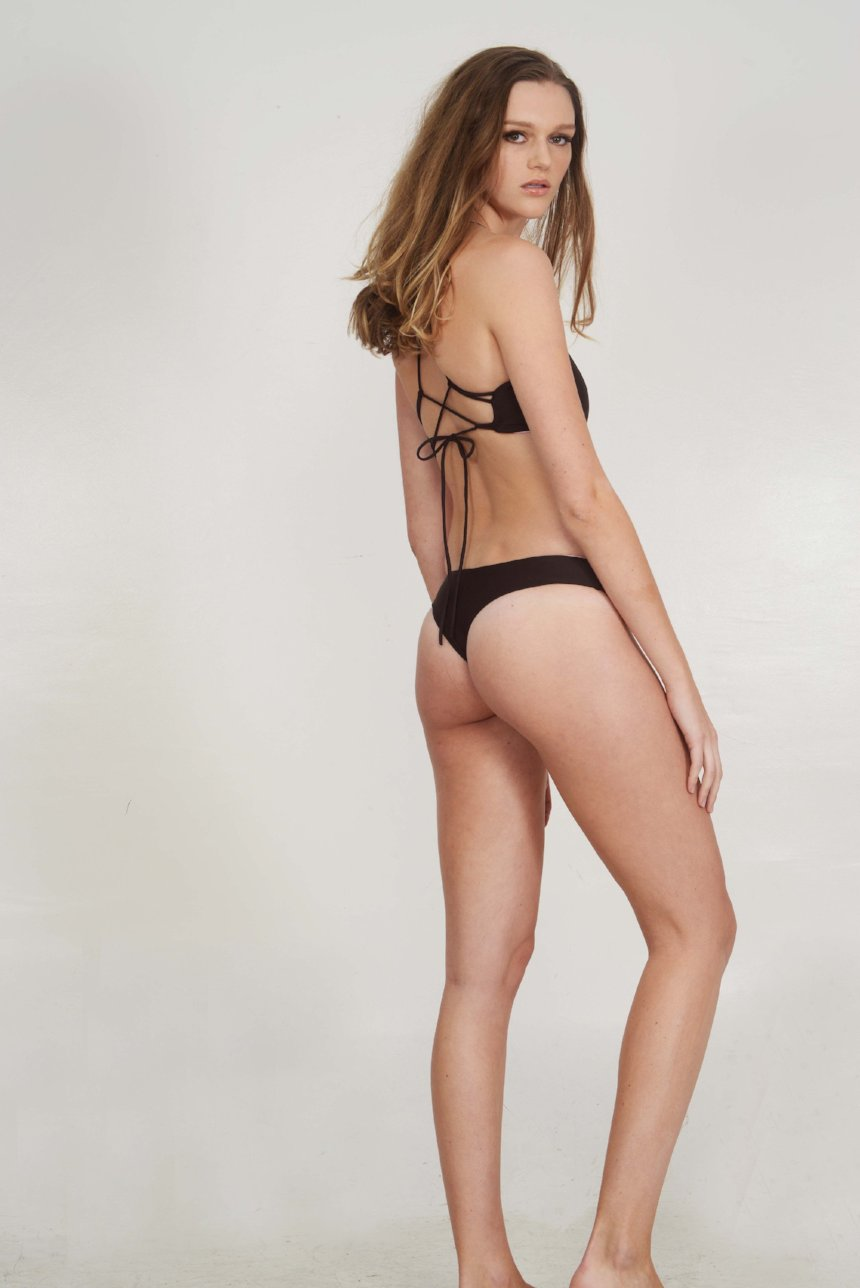 The Bobby – Cheeky Bikini Bottom in Semisweet Chocolate Brown