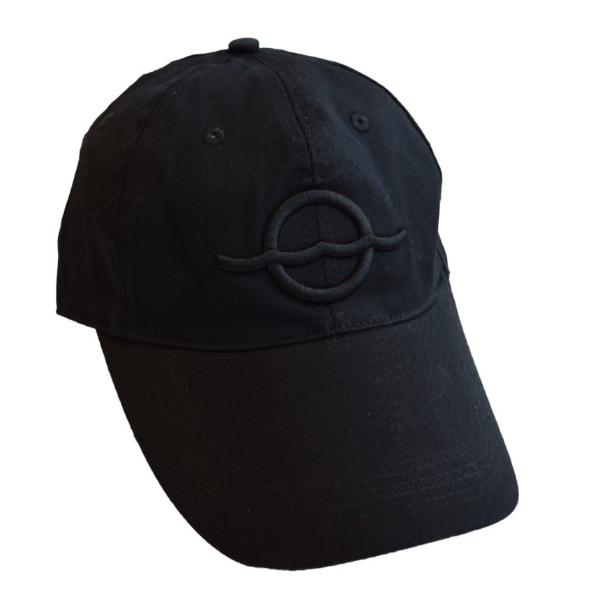 Embroidered Adjustable Dad Hat – Black Logo