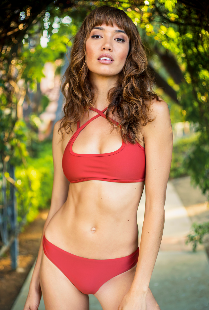 The Bobby – Cheeky Bikini Bottom in Sienna Rust