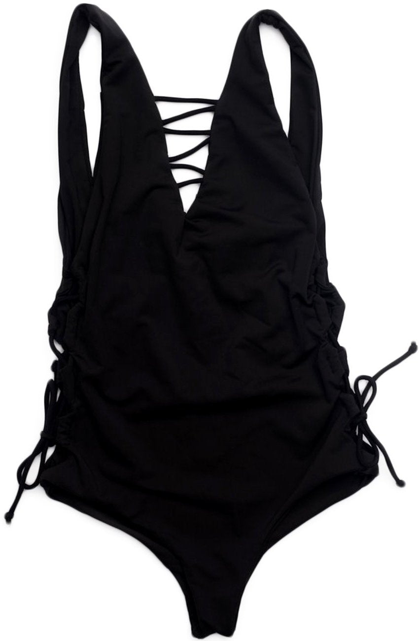 The Kate One Piece – Cheeky One Piece Swimsuit in Jet Black