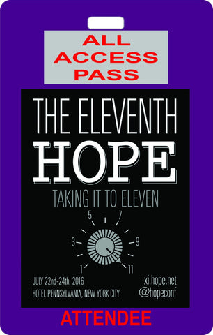 "The Eleventh HOPE (2016): ""Freedom and Privacy in Our Lives, Our Governments, and Our Schools"" (Download)"