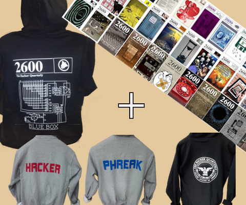 LIFETIME HACKER DIGEST AND A HACKER SWEATSHIRT
