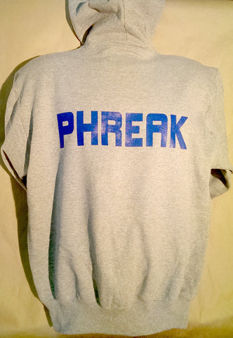 """PHREAK"" Sweatshirt (gray w/zipper)"