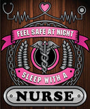 Christmas Special - Nurse - Feel Safe at Night, Sleep With a Nurse Throw Blanket
