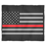 Thin Red Line American Flag Blankets - Small, Medium and Large