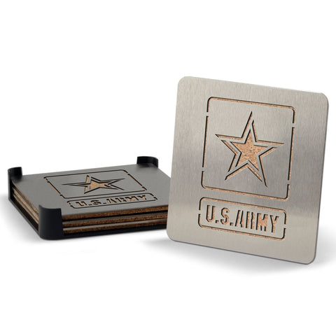 US Army 4-piece Boaster Drink Coaster