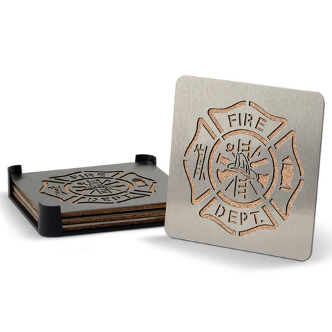 Firefighter 4-piece Boaster Drink Coaster