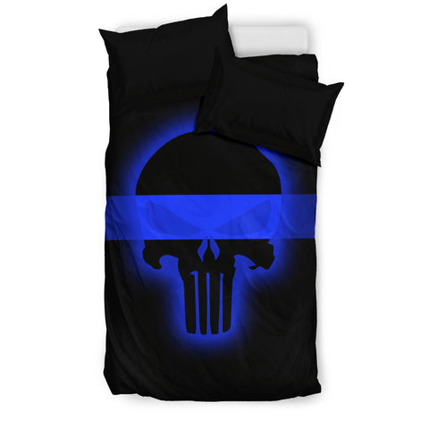 thin blue line-bedding set