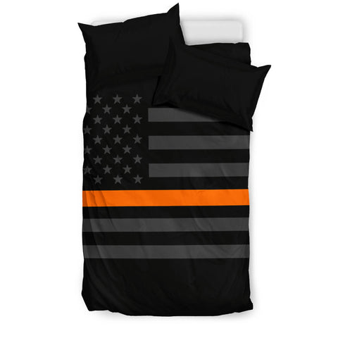 thin orange line-bedding set