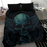ice skull- bedding set