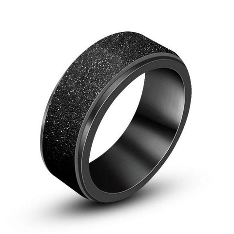 Black Plated Spinner Ring