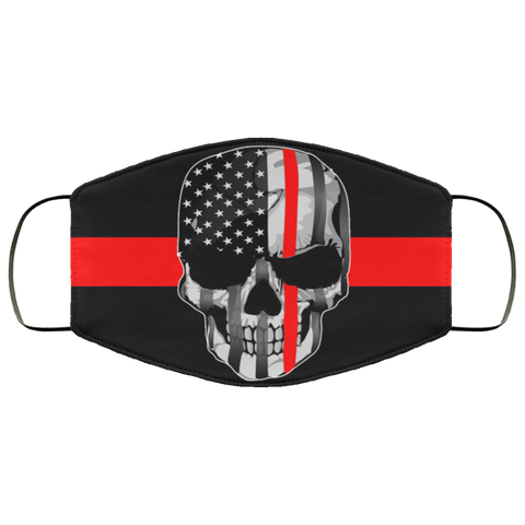 thin red line skulls Second batch Face Mask