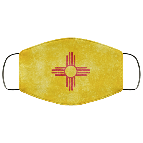New Mexico Grunge Flag fifth Face Mask