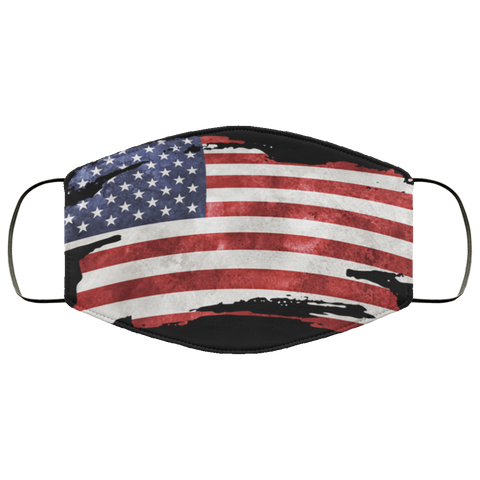 USA Grunge Flag fifth Face Mask