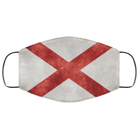 Alabama Grunge Flag Fifth Face Mask