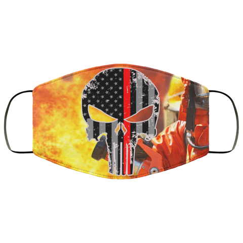 Firefighter skull face mask
