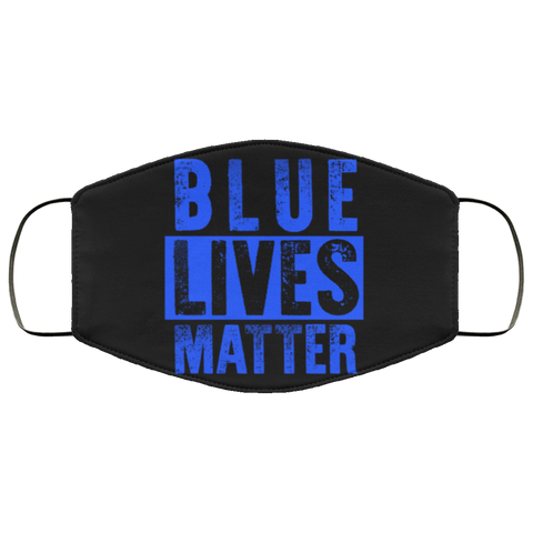 Blue lives face mask