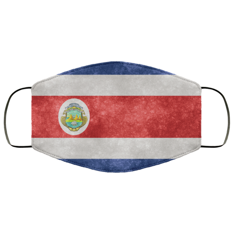 Costa Rica Grunge Flag Fifth Face Mask