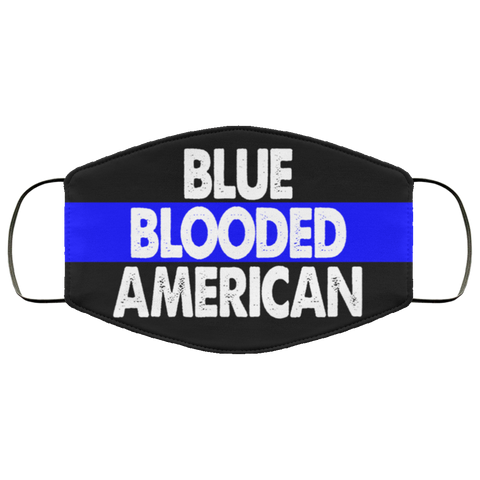 Blue blooded American Face Mask